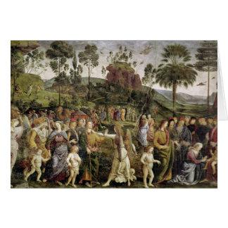 El viaje de Moses, c.1481-83 Tarjeta De Felicitación