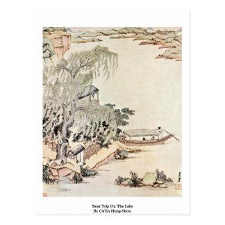 El viaje del barco en el lago por Ch'En Colgó-Shou Postal
