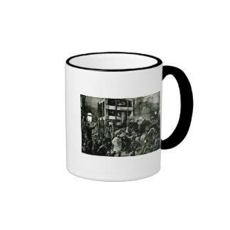 El viaje del jumbo a los muelles tazas de café