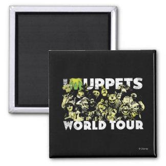 El viaje del mundo de los Muppets Imán Cuadrado