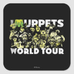 El viaje del mundo de los Muppets Calcomanía Cuadradas Personalizada