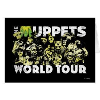 El viaje del mundo de los Muppets Tarjeta