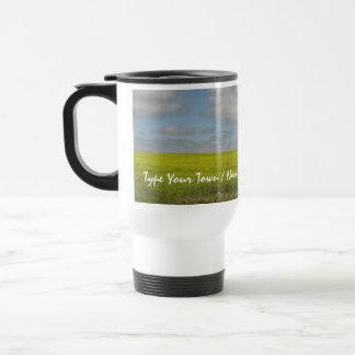 El viaje del paisaje de la pradera de la taza de M
