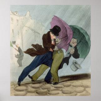 El viaje del paraguas, de 'Flibustiers Parisiens Poster