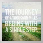 El viaje del poster de mil millas