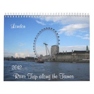 El viaje del río a lo largo del domestica el calen calendario