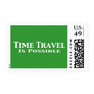 El viaje del tiempo es regalos posibles sello