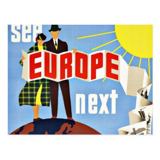 El viaje del vintage considera Europa Postal