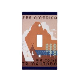 El viaje del vintage considera la recepción de Am Placas Para Interruptor