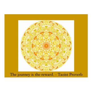 El viaje es la recompensa. - Proverbio del Taoist Tarjetas Postales