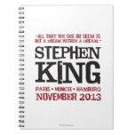 El viaje euro de Stephen King Spiral Notebook