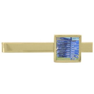 El viaje firma la barra de lazo alfiler de corbata dorado