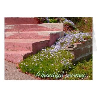 El viaje hermoso comienza con un solo paso - nota felicitaciones