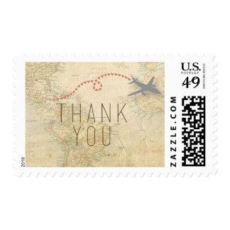 El viaje le agradece franqueo sello