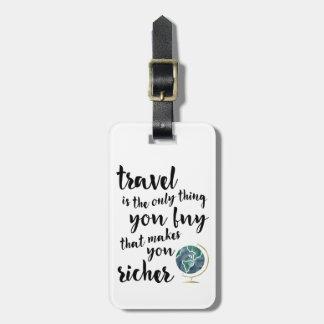 El viaje le hace una etiqueta más rica del etiquetas bolsas