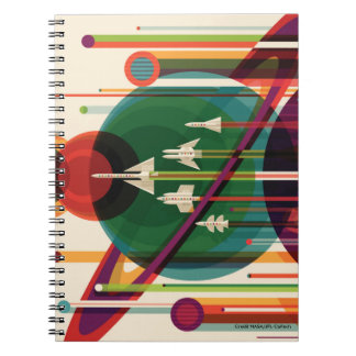 El viaje magnífico - cuaderno retro del poster del