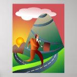 El viaje montañoso poster