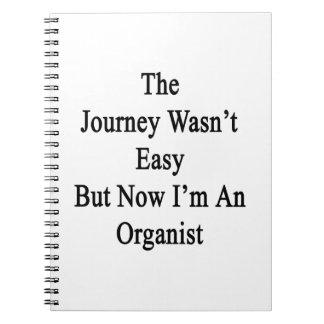 El viaje no era fácil pero ahora soy organista cuadernos