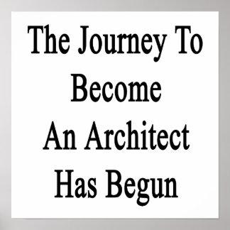 El viaje para sentir bien a un arquitecto ha póster
