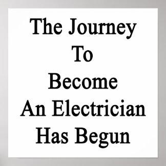 El viaje para sentir bien a un electricista ha póster