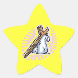 El viaje pegatina forma de estrella personalizada