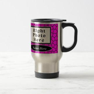 El viaje personalizado del café de la foto asalta taza