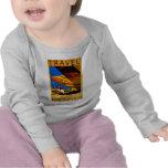 El viaje s largo infantil del aire, del mar y de camisetas
