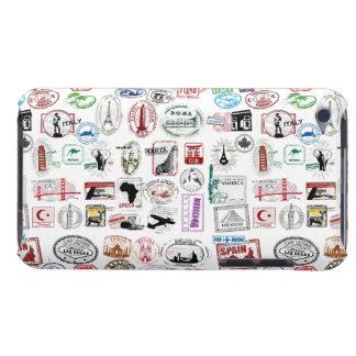 El viaje sella la caja del teléfono del modelo iPod Case-Mate cárcasas