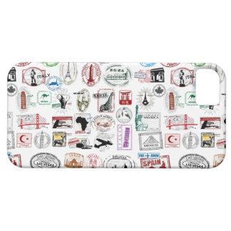 El viaje sella la caja del teléfono del modelo iPhone 5 fundas