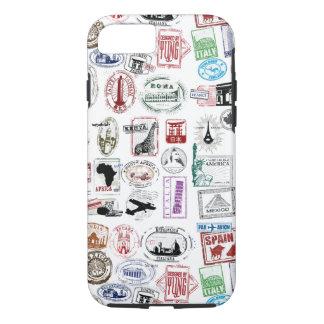 El viaje sella la caja del teléfono del modelo funda iPhone 7