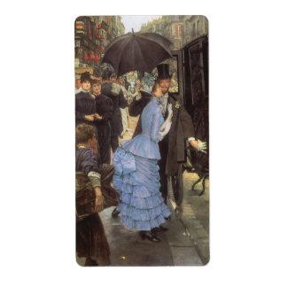 El viajero aka dama de honor por James Tissot Etiqueta De Envío