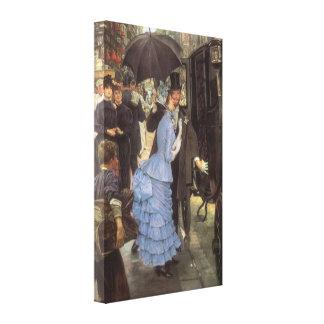 El viajero (aka dama de honor) por James Tissot Lienzo Envuelto Para Galerías