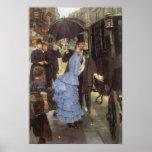 El viajero (aka dama de honor) por James Tissot Póster