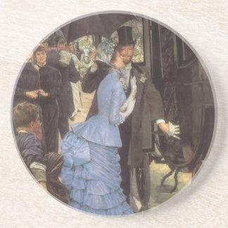 El viajero (aka dama de honor) por James Tissot Posavasos Personalizados