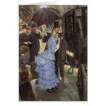 El viajero (aka dama de honor) por James Tissot Tarjeta De Felicitación
