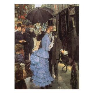 El viajero (aka dama de honor) por James Tissot Postal