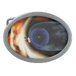 El viajero aplasta vista de la Sistema Solar Hebilla Cinturon Oval