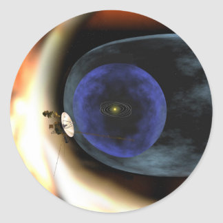 El viajero aplasta vista de la Sistema Solar Etiqueta Redonda