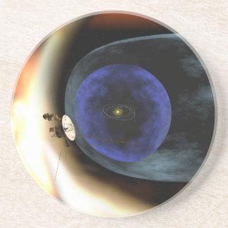 El viajero aplasta vista de la Sistema Solar Posavasos Diseño
