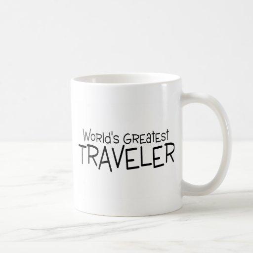 El viajero más grande de los mundos taza básica blanca