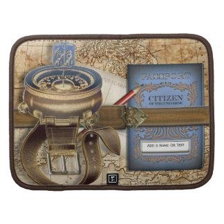 El viajero personalizó la caja en folio planificador