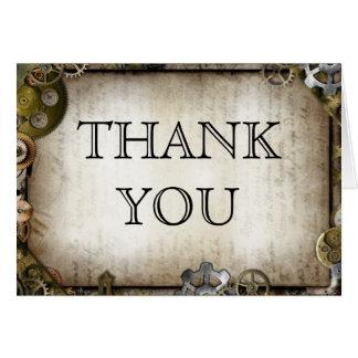 El Victorian de los engranajes de Steampunk le agr Tarjeta De Felicitación