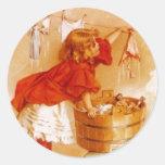 El Victorian del vintage del pegatina forma el