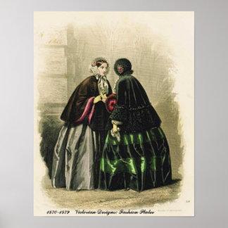 El Victorian diseña las placas de moda Posters