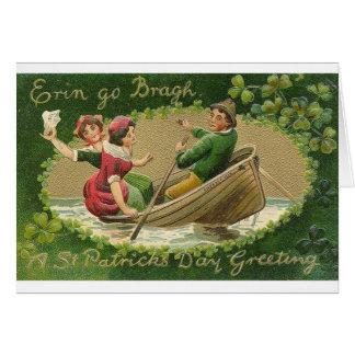 El Victorian Erin va tarjeta del día de Bragh St P