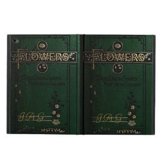 El Victorian florece la cubierta de libro viejo