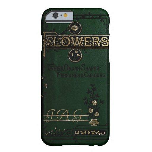 """El Victorian """"florece"""" la cubierta de libro viejo Funda De iPhone 6 Barely There"""