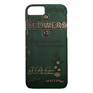 El Victorian florece la cubierta de libro viejo Funda iPhone 7