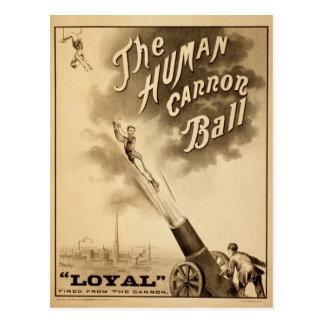 El Victorian humano del acto de circo del vintage Postales
