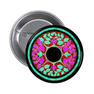 El Victorian púrpura y verde deja el ornamento Pins
